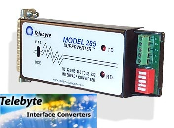 Telebyte Model 285 - RS-232 to RS-422/RS-485 Converter‏